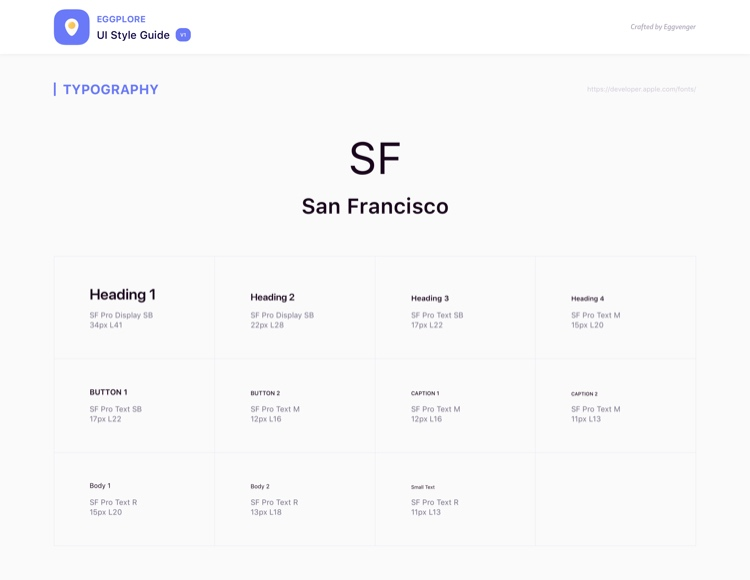 Eggplore UI Style Guide Free 4 - UI Freebies