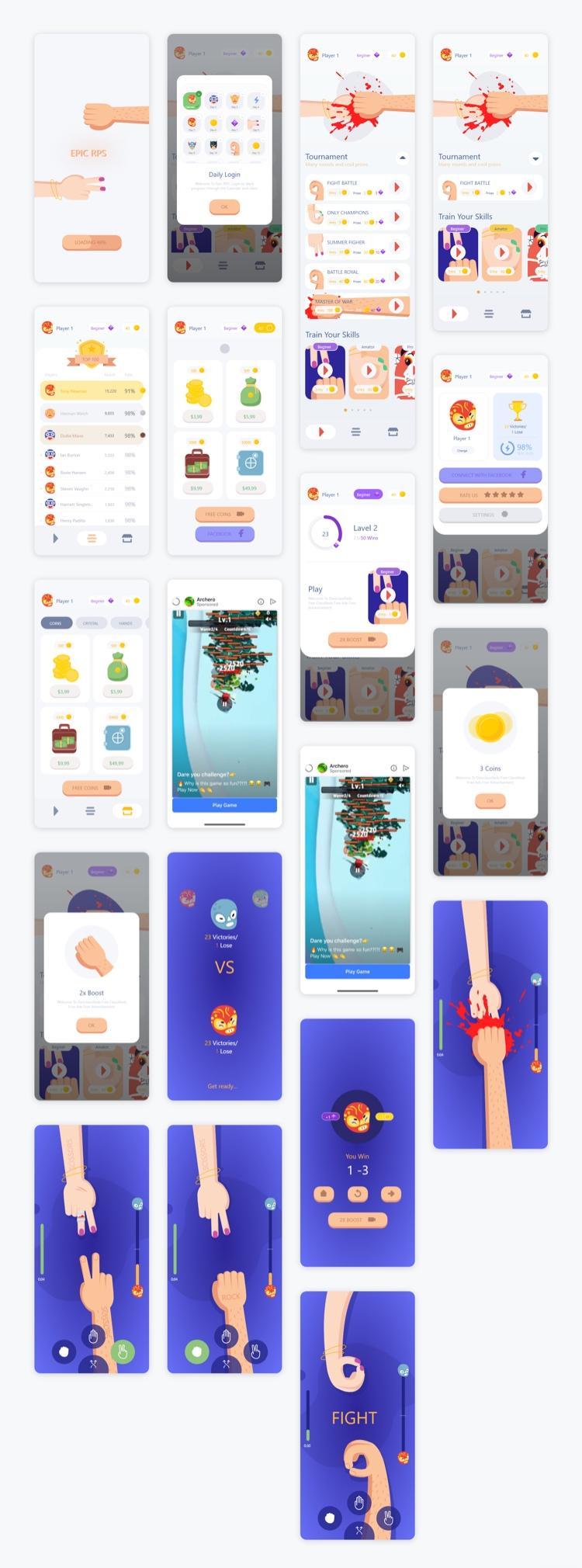 Epic Game Mobile Free - UI Freebies