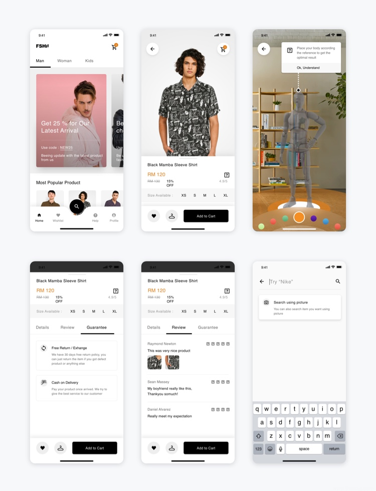 Fashion Ecommerce App Free 2 - UI Freebies