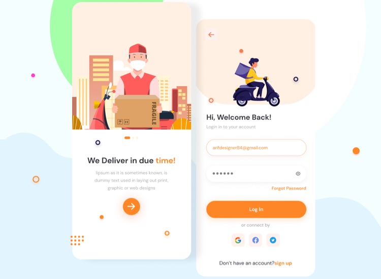 Food Delivery Onboarding Free