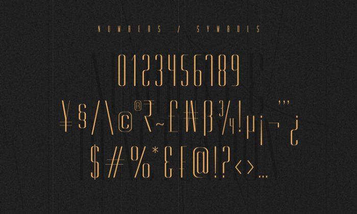 Gorgeous Typeface Free 4 - UI Freebies