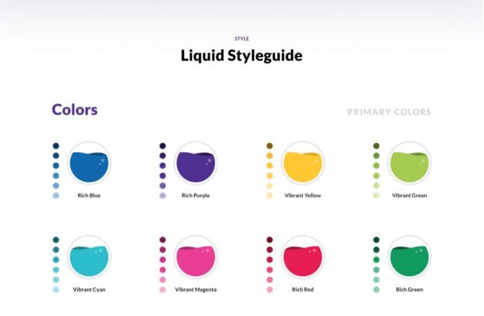 Liquid Design System Free - UI Freebies
