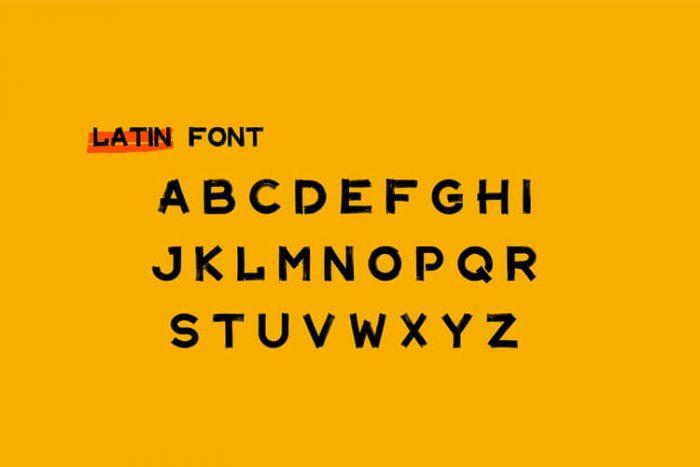 Maler Font Free 4 - UI Freebies