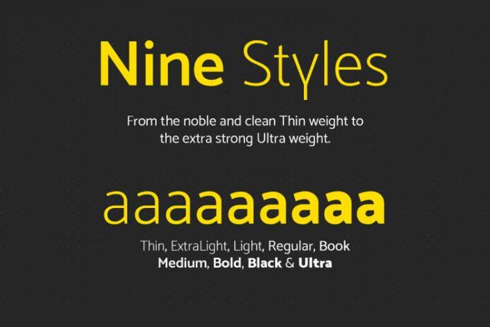 Mosk Typeface Free 2 - UI Freebies