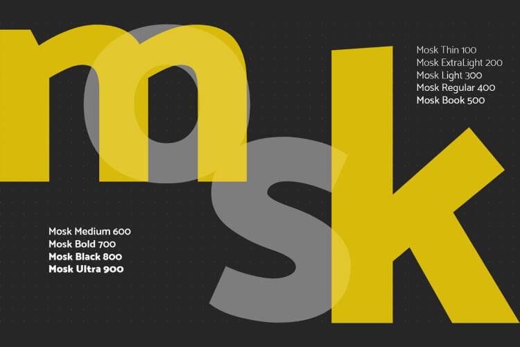 Mosk Typeface Free 3 - UI Freebies