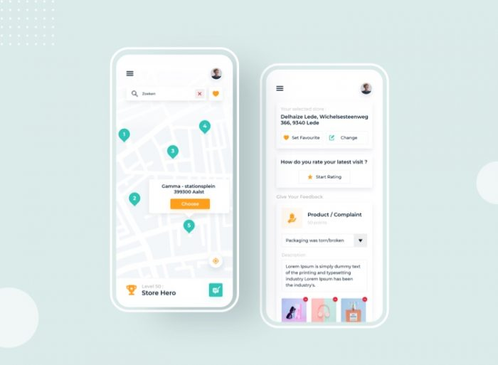 Retail App UI Kit Free 2 - UI Freebies