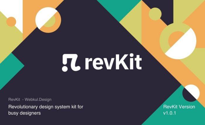 Revkit Design System Kit Free - UI Freebies