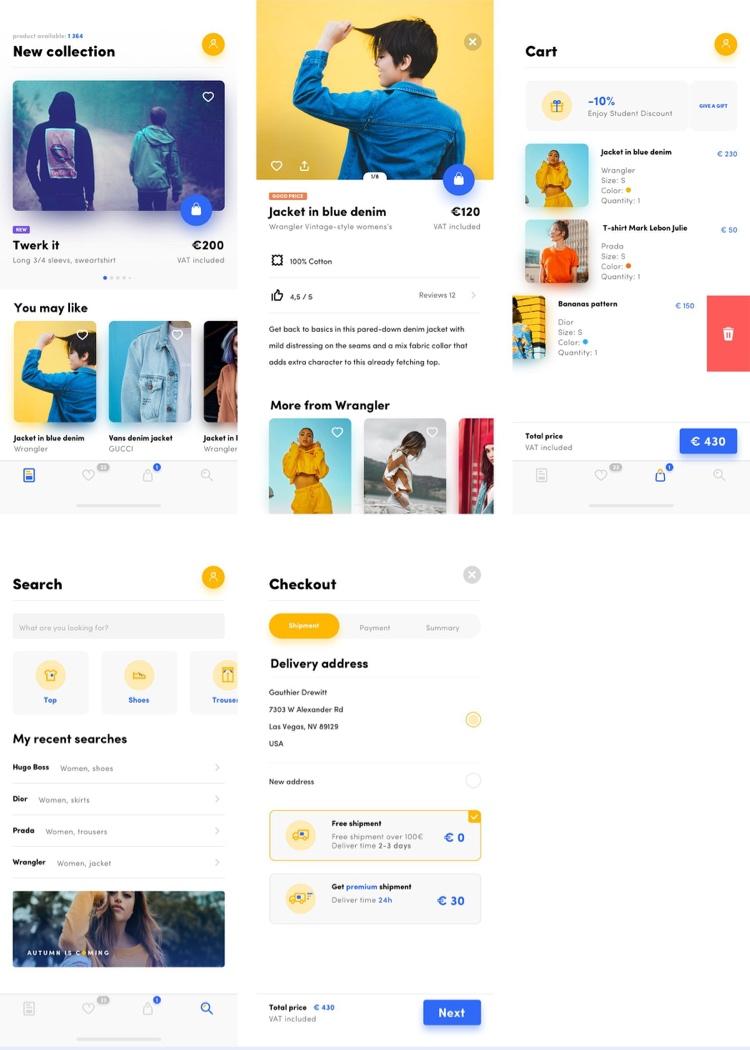 Shop UI Kit Free for Sketch - UI Freebies