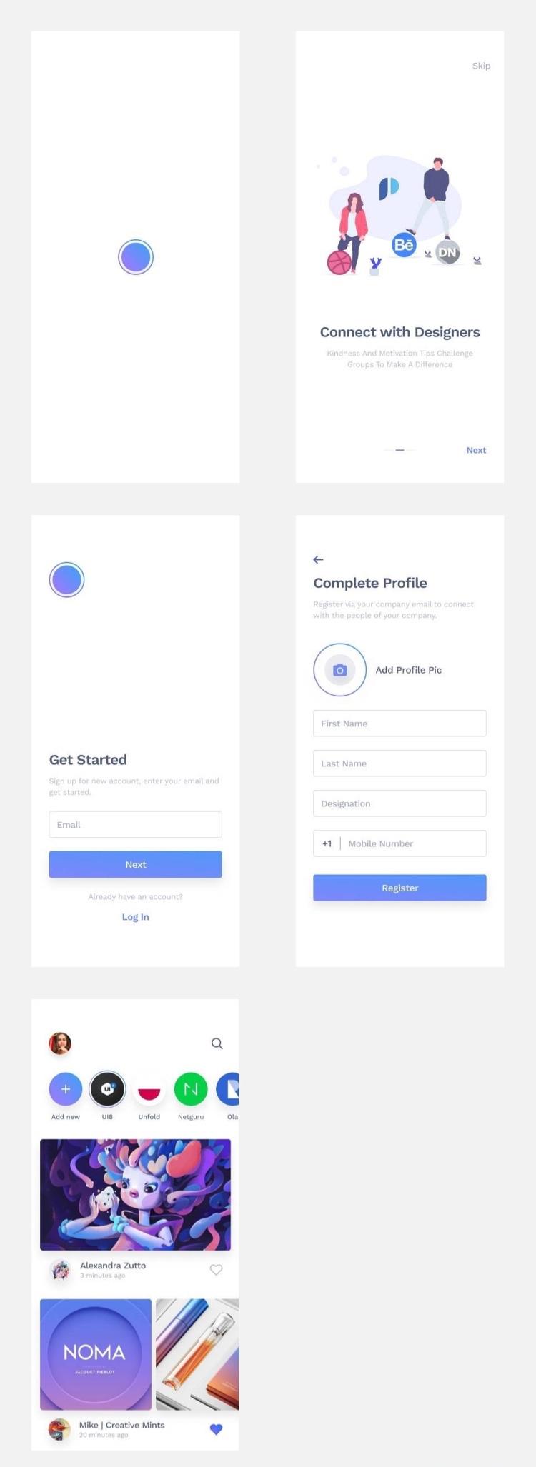 Social App UI Kit Free 4 - UI Freebies