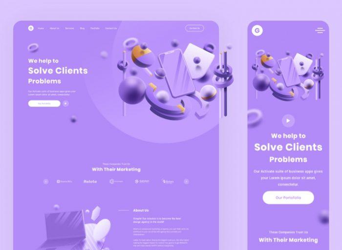 Zurich Business Web Free 2 - UI Freebies