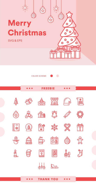 christmas icon set 2 - UI Freebies