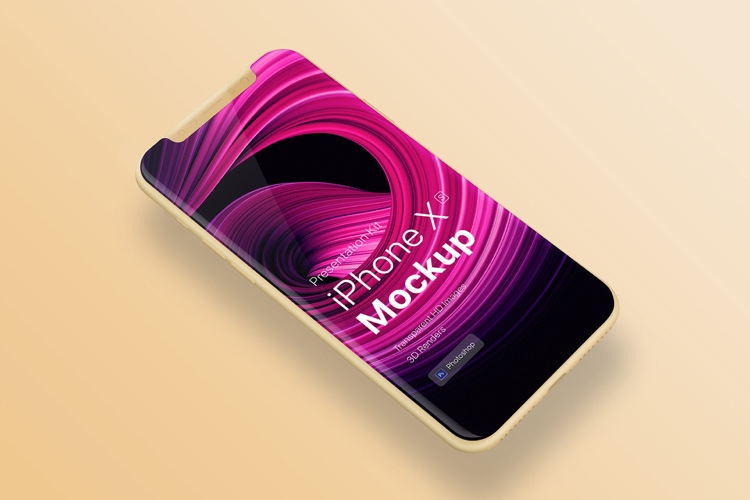 iPhone XS Mockup Showcase Free 3 - UI Freebies