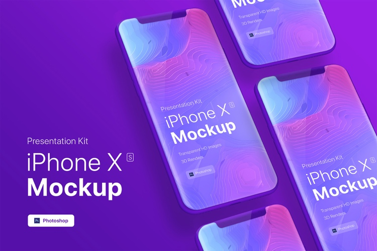 iPhone XS Mockup Showcase Free 4 - UI Freebies