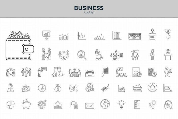 1500 Jumbo Line Icons 4 - UI Freebies