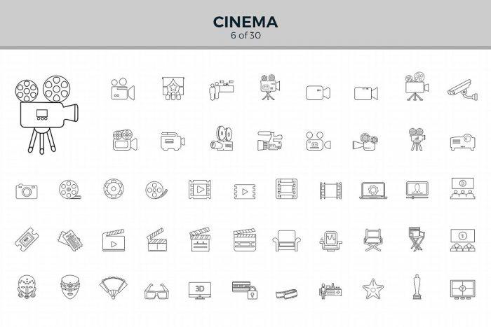 1500 Jumbo Line Icons 5 - UI Freebies