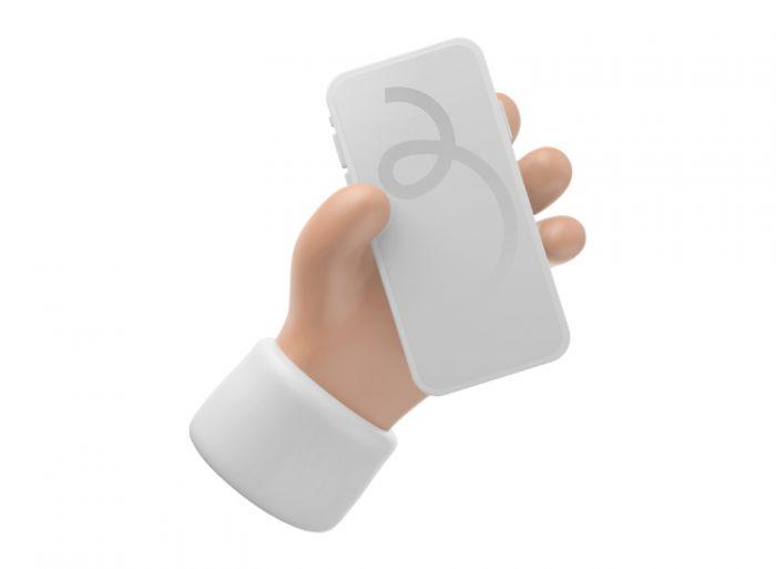 3D iPhone Mockup 2 - UI Freebies