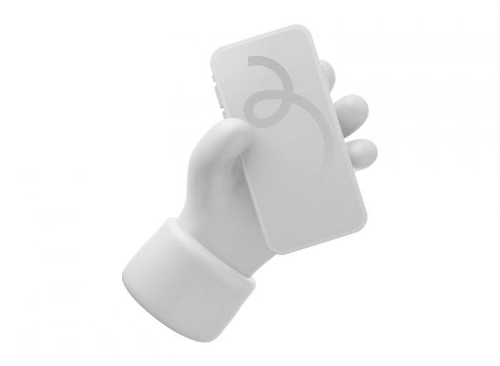 3D iPhone Mockup 3 - UI Freebies