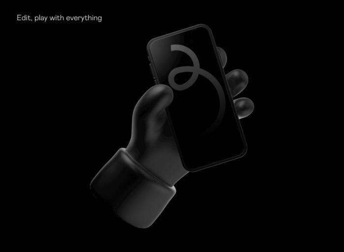 3D iPhone Mockup 5 - UI Freebies