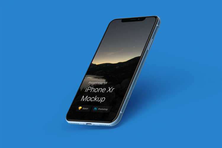 8 iPhone XR Mockup 2 - UI Freebies