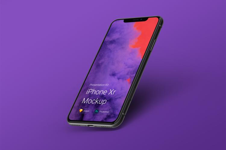 8 iPhone XR Mockup 3 - UI Freebies