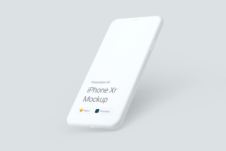 8 iPhone XR Mockup 4 - UI Freebies