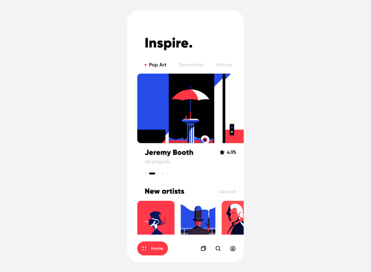 Art App Concept 4 - UI Freebies