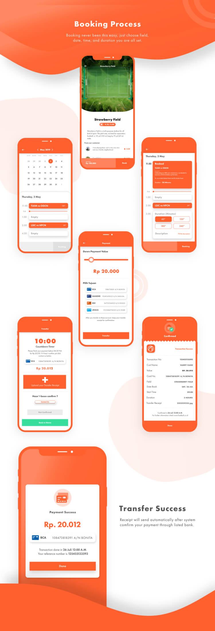 Booking Field App UI Kit 2 - UI Freebies