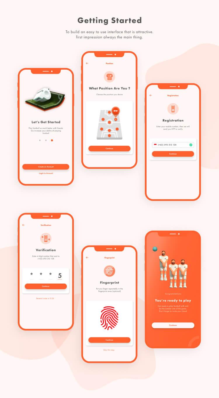 Booking Field App UI Kit 4 - UI Freebies