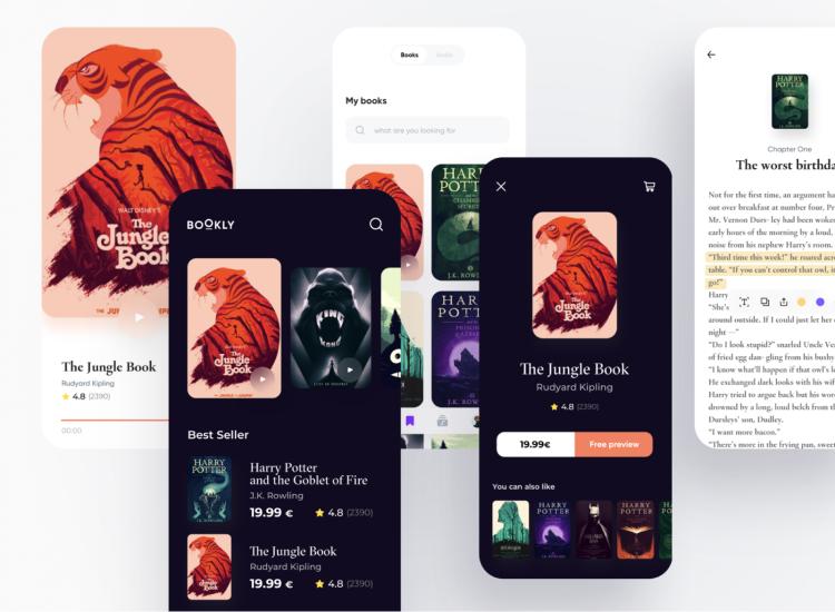 Bookly App UI Kit 2 - UI Freebies