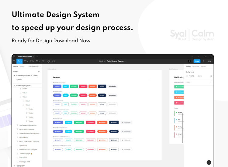 Calm Design System 4 - UI Freebies