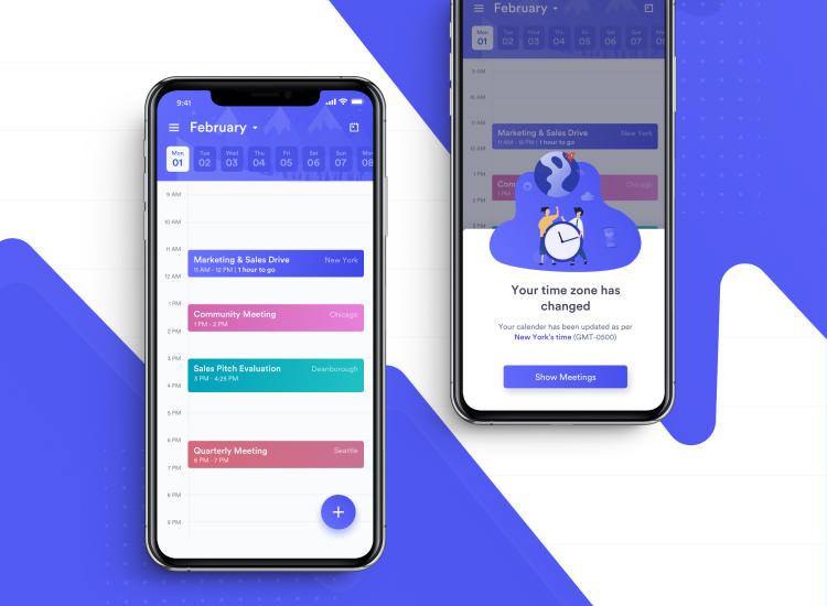 Calzie Calendar App 3 - UI Freebies