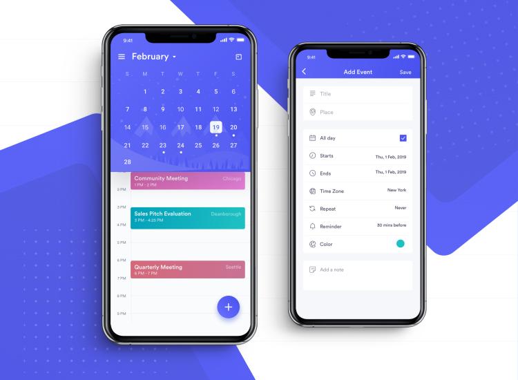 Calzie Calendar App 4 - UI Freebies