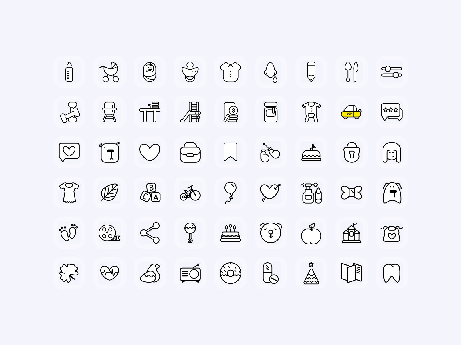 Cute Icons 2 - UI Freebies