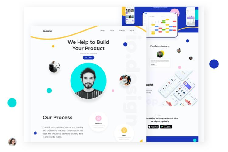Design Agency Landing Page 2 - UI Freebies