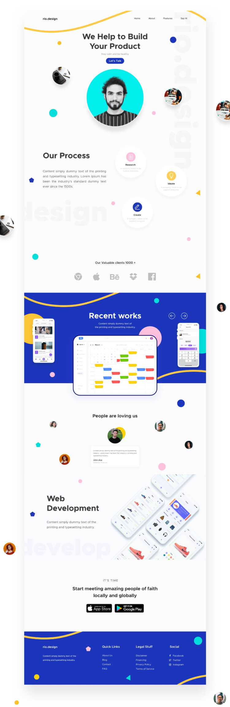 Design Agency Landing Page 3 - UI Freebies