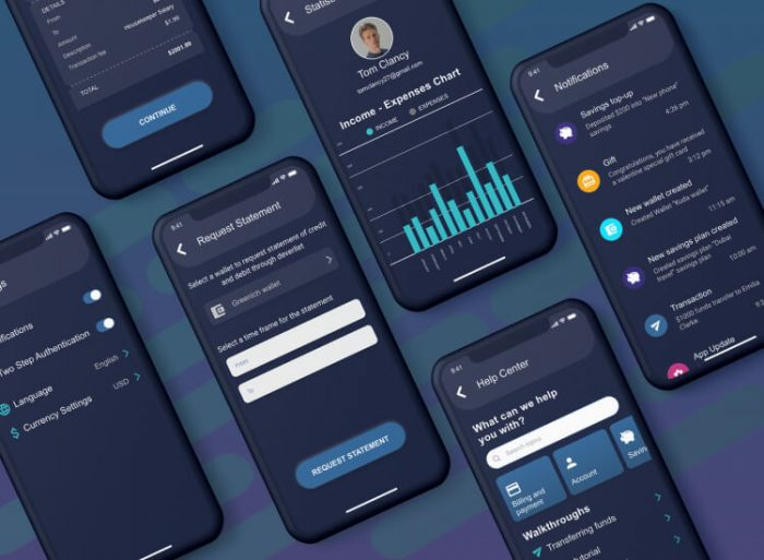 Deverllet Wallet UI Kit 2 - UI Freebies