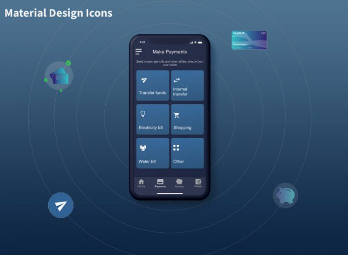 Deverllet Wallet UI Kit 3 - UI Freebies