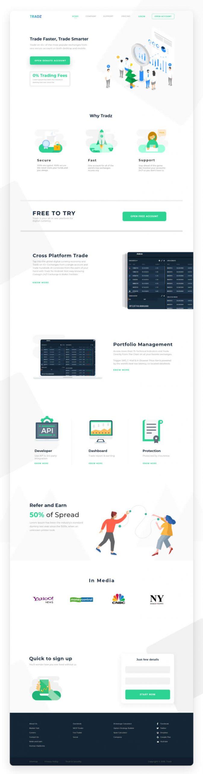 Digital Currency Landing Page 2 scaled - UI Freebies