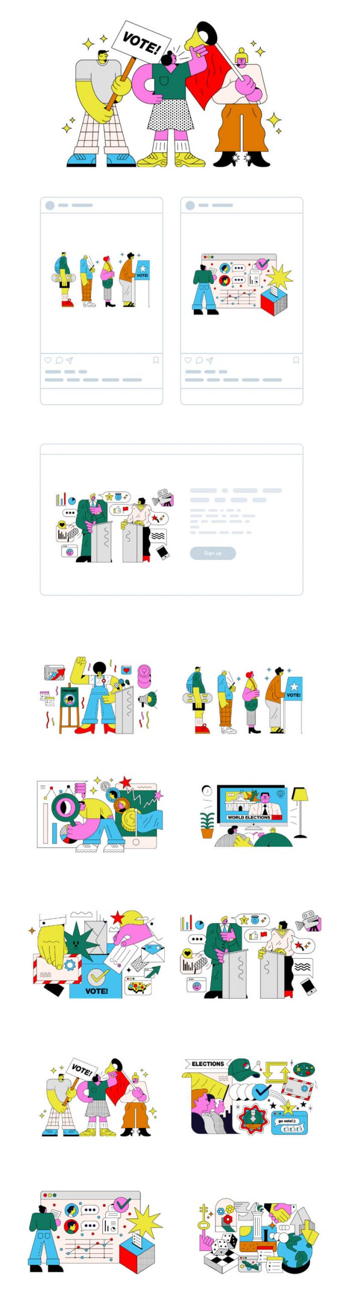 Election Illustrations 2 scaled - UI Freebies