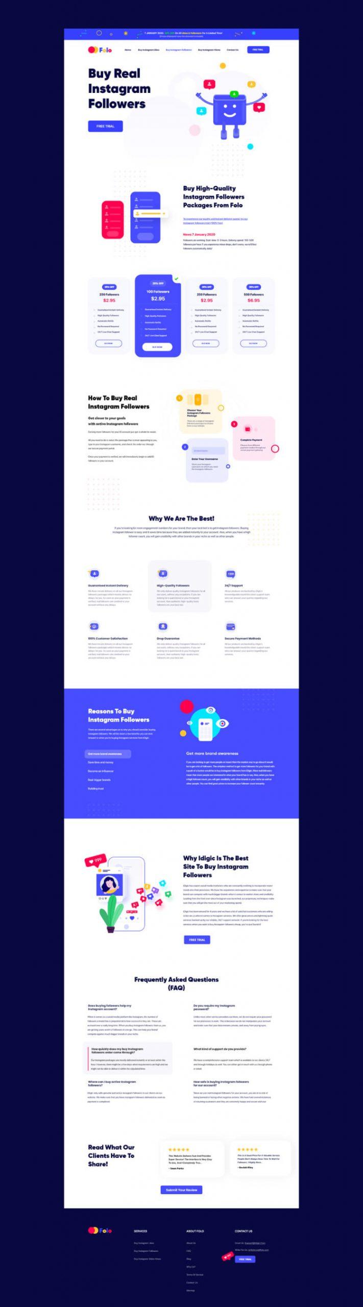 Folo Landing Page 2 scaled - UI Freebies