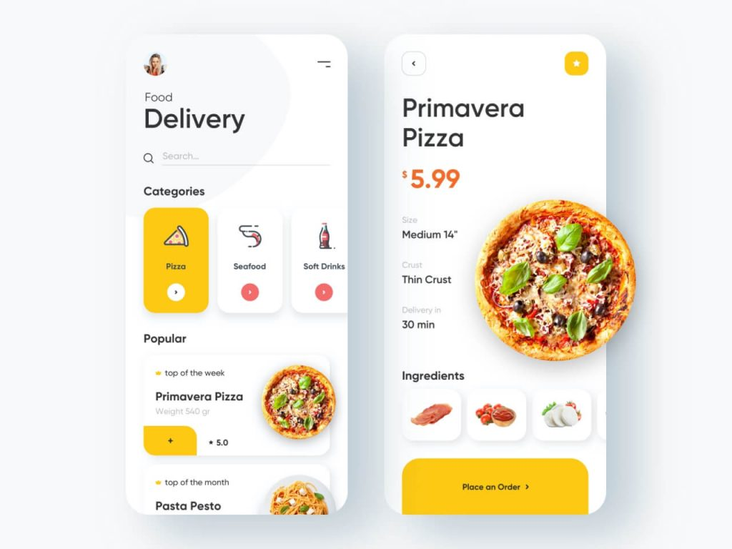 Food Delivery Mobile App 1024x768 1 - UI Freebies