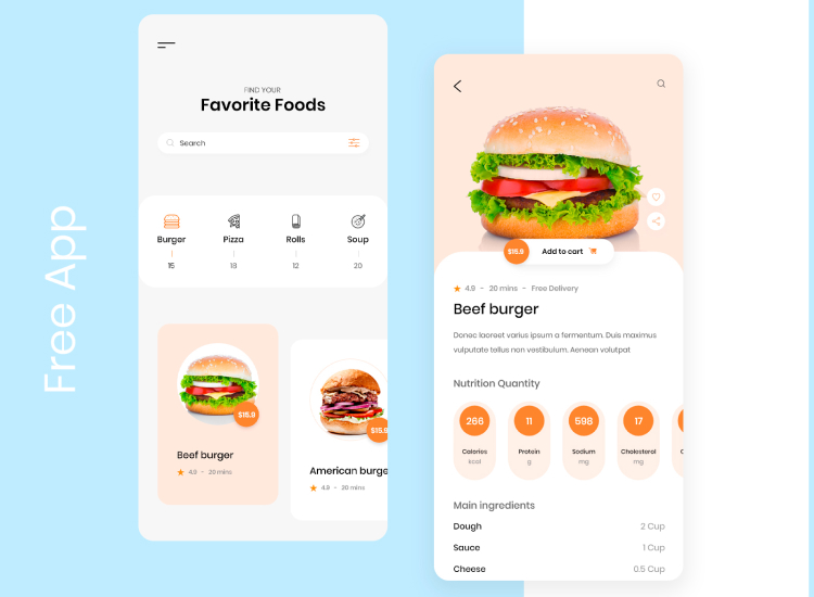 Food Exploration App 2 - UI Freebies