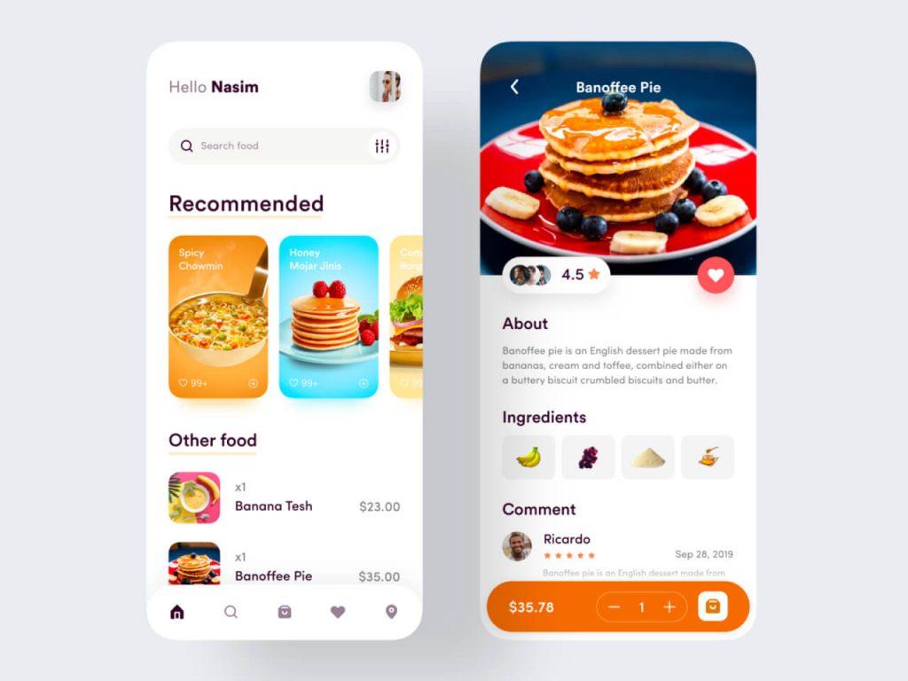 Food Service Mobile App 1024x768 1 - UI Freebies