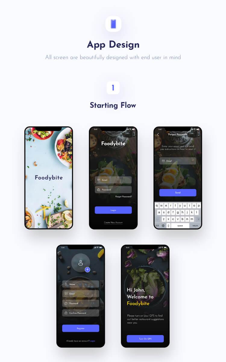 Food Delivery App UI Design Free Download - UI Freebies