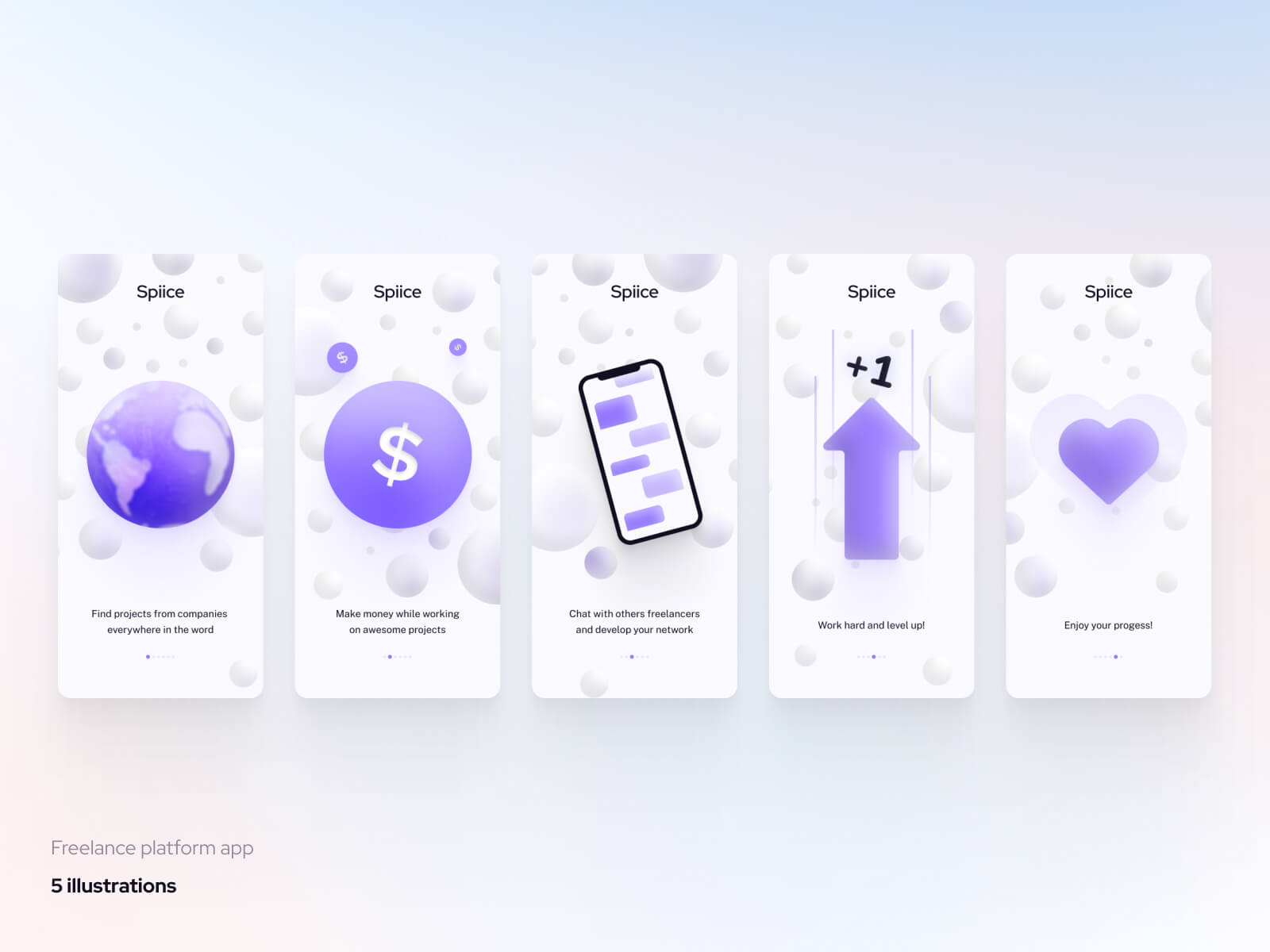 Freelance Platform App 2 - UI Freebies