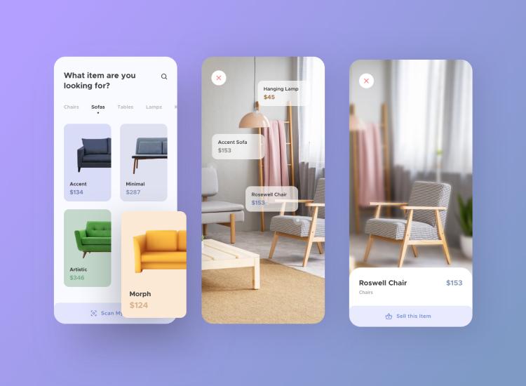 Furniture App UI Kit 3 - UI Freebies