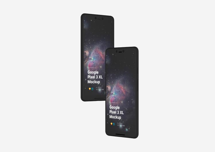 Google Pixel 3 XL Mockup 2 - UI Freebies