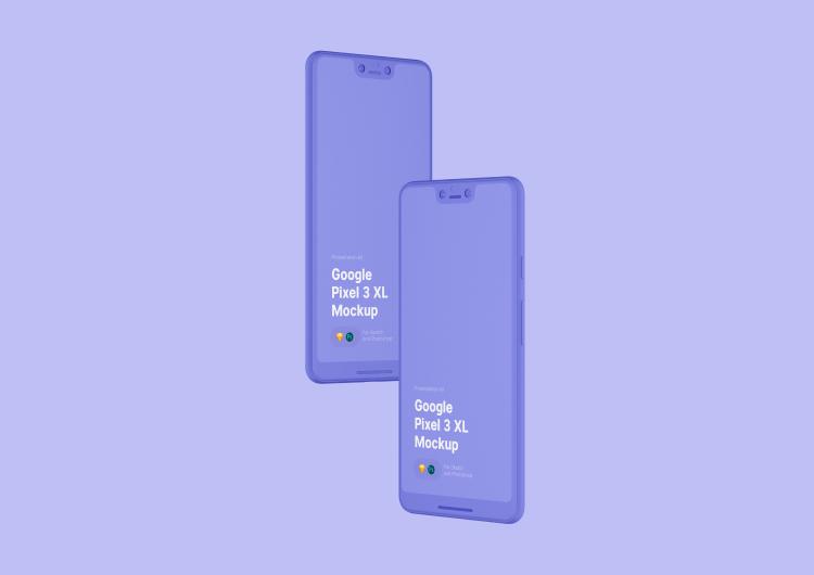 Google Pixel 3 XL Mockup 4 - UI Freebies