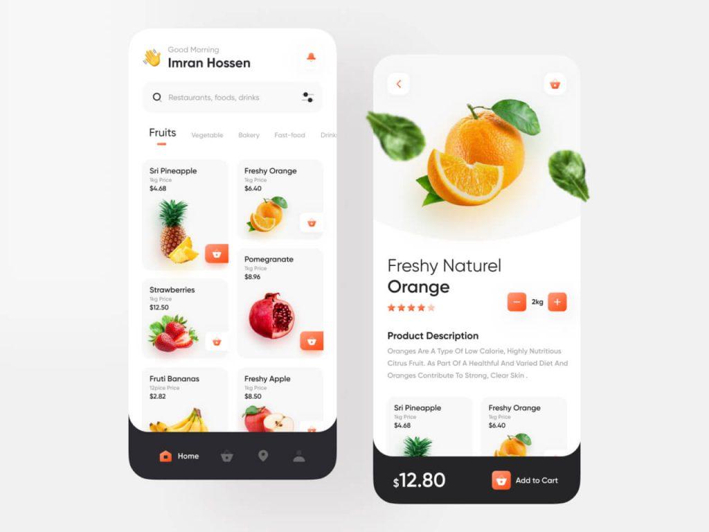 Groceries Shopping Mobile App 1024x768 1 - UI Freebies
