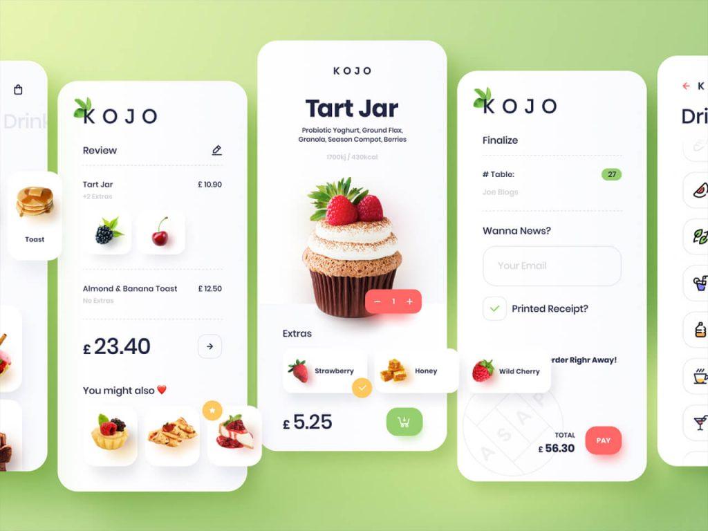 Healthy food mobile app 1024x768 1 - UI Freebies